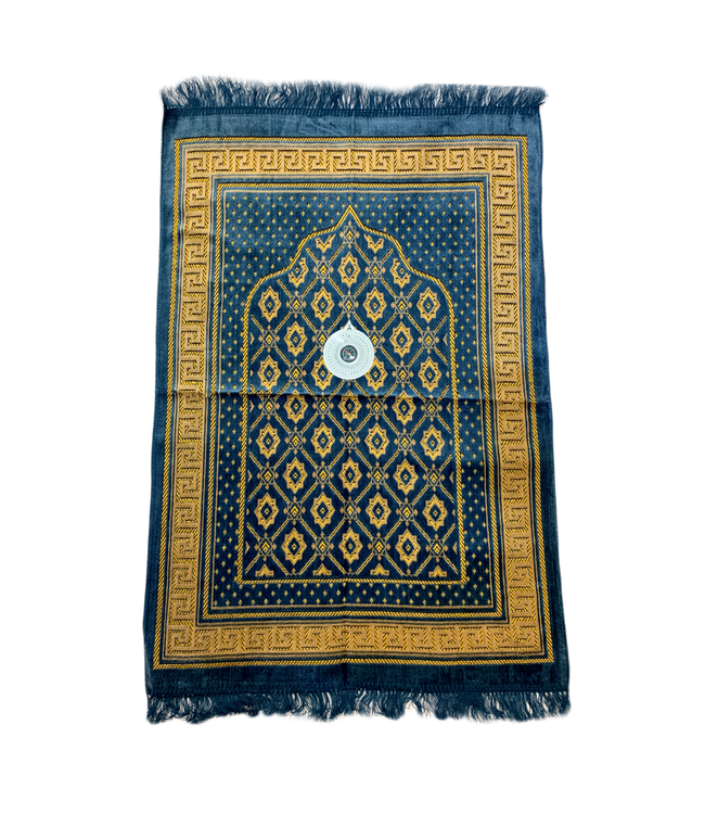 Prayer rug - Seccade With Compass In Grey-Blue