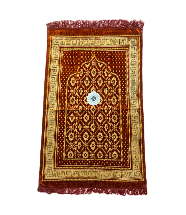 Prayer rug - Seccade With Compass In Red