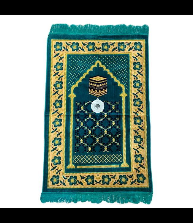 Gebetsteppich - Seccade in Türkis mit Kompass