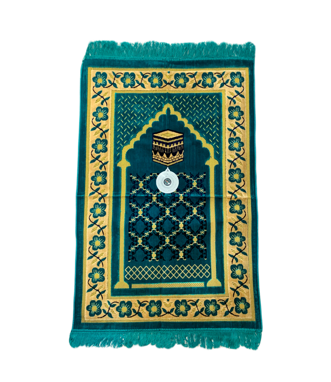 Prayer Mat with Compass - Turquoise