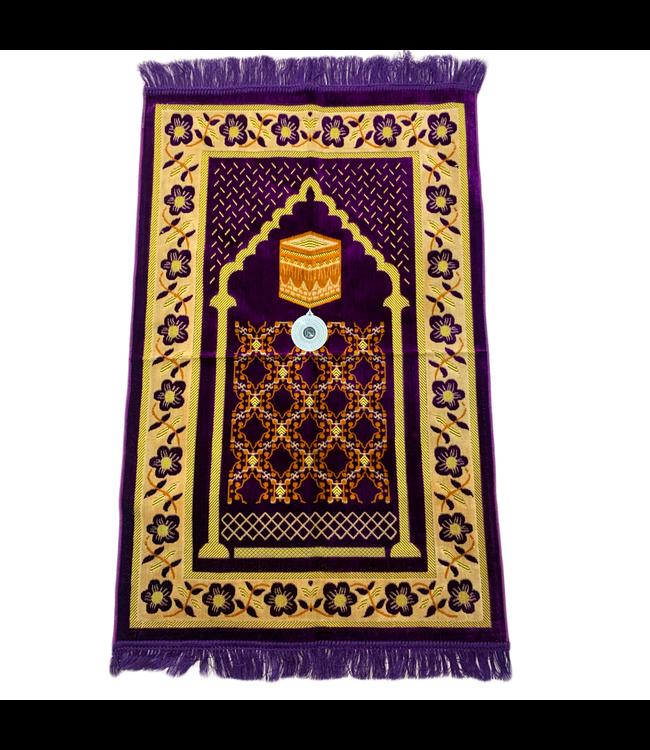Gebetsteppich - Seccade in Violett mit Kompass