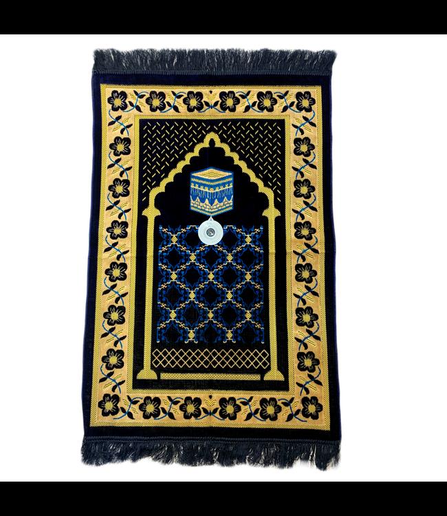 Prayer Mat with Compass - Dark Blue