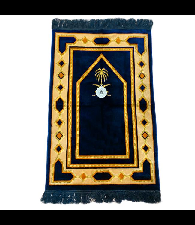 Gebetsteppich - Seccade in Dunkelblau mit Kompass