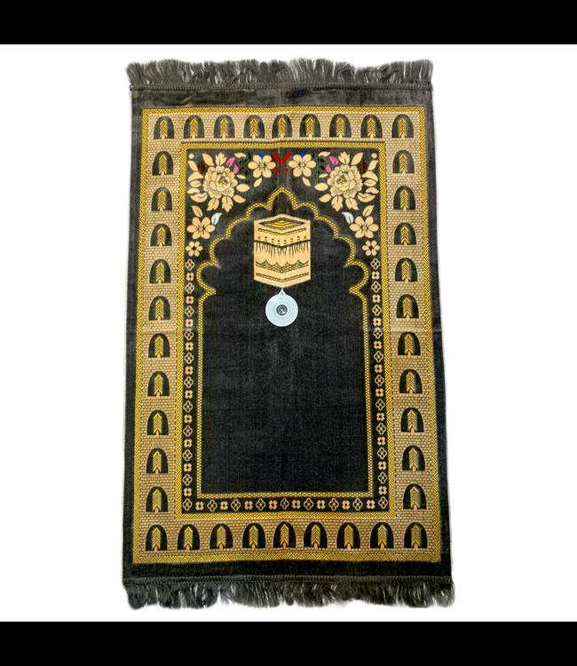 Gebetsteppich - Seccade in Grau mit Kompass