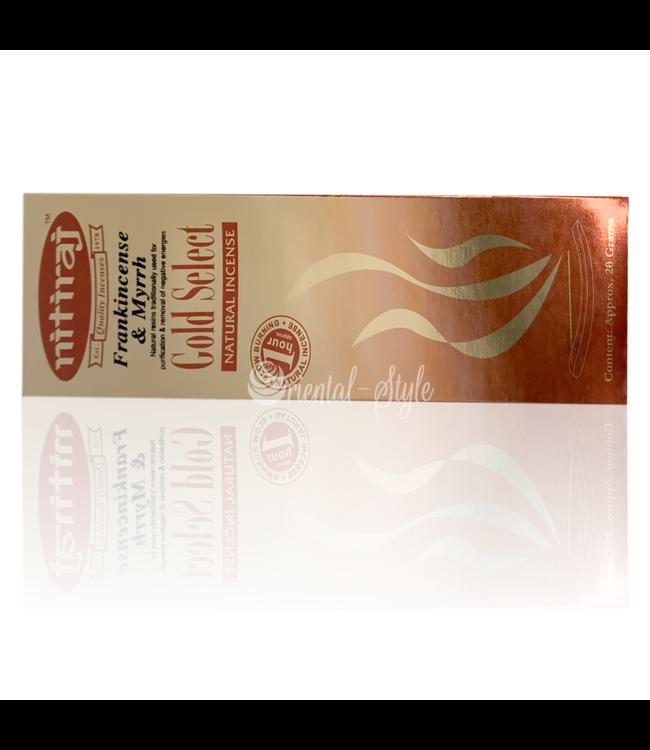 Nitiraj Premium Incense Sticks Nitiraj Gold Select Frankincense & Myrrh (20g)