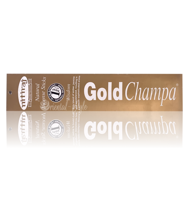 Nitiraj Premium Incense sticks Gold Champa Wisdom (10g)
