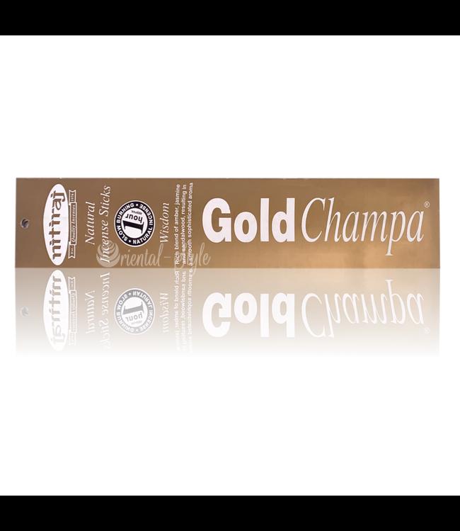 Nitiraj Premium Räucherstäbchen Gold Champa Wisdom (10g)