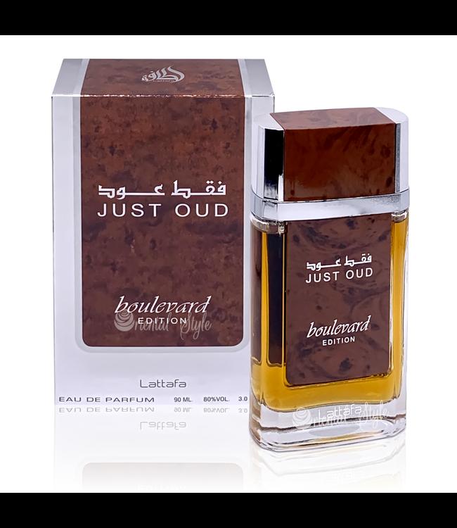 Lattafa Perfumes Just Oud Boulevard Edition Eau de Parfum 90ml by Lattafa Perfume Spray