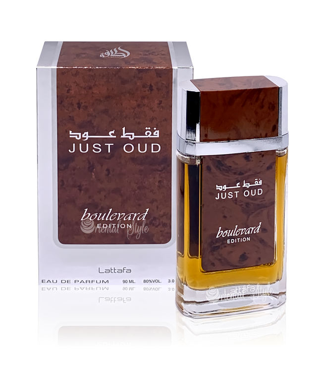 Lattafa Perfumes Just Oud Boulevard Edition Lattafa Eau de Parfum 90ml