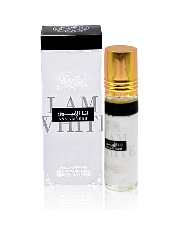 Ard Al Zaafaran Perfumes  Parfümöl Ana Abiyedh  I Am White 10ml - Parfüm ohne Alkohol