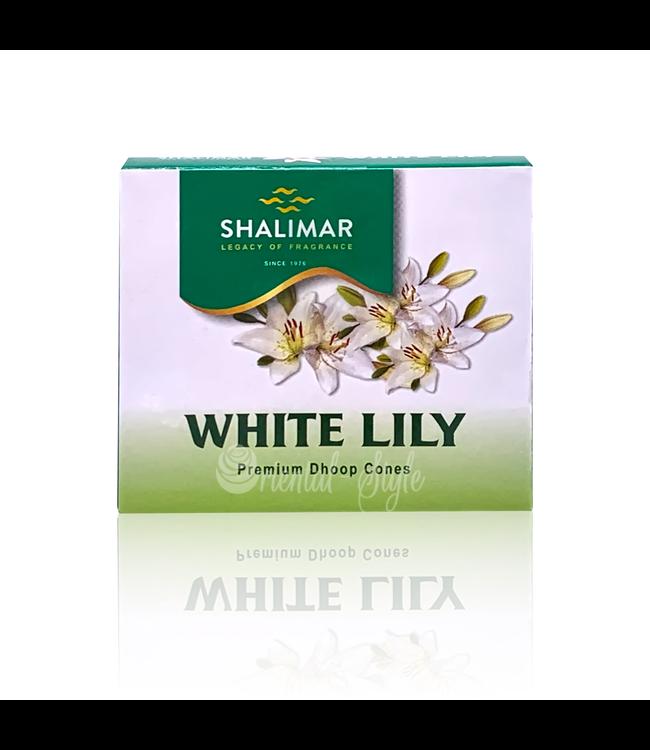 Shalimar Räucherkegel Weiße Lilie (10 Stück)