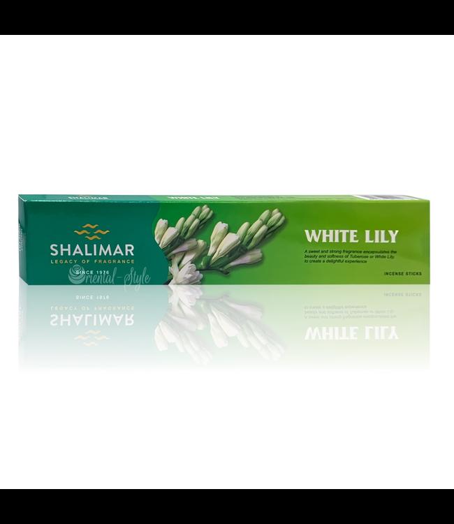 Shalimar Räucherstäbchen White Lily mit Lilienduft (50g)