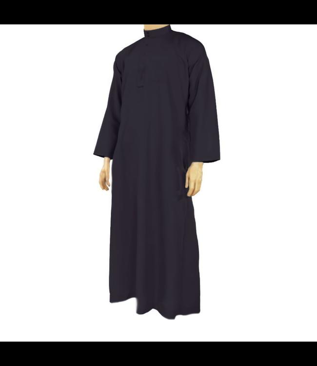 Arabic Galabiya Jubbah Thobe in Black By Al Haramain
