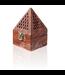 Mubkara - Räuchergefäß Pyramide Holz Midi
