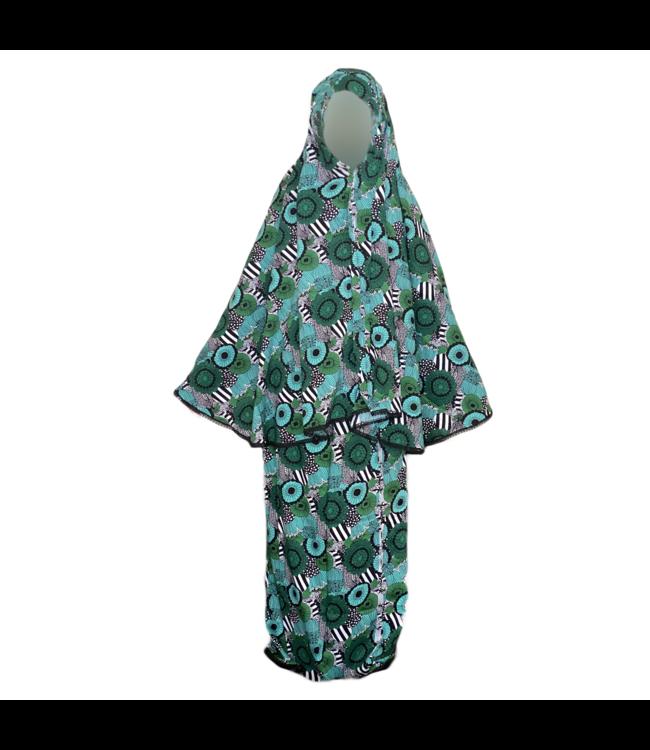 Gebetskleidung Gemustert - Zweiteilig Grün