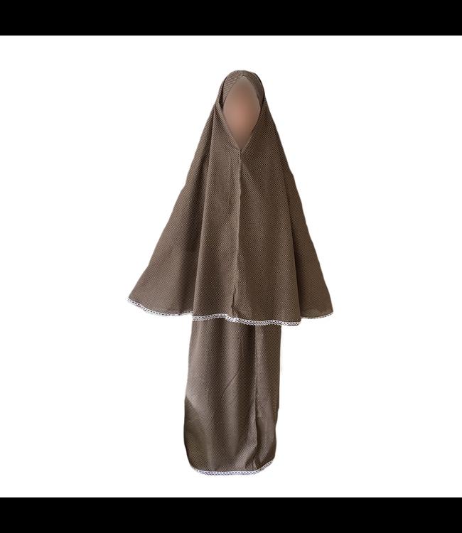 Gebetskleidung Braun Polkadots - Zweiteilig