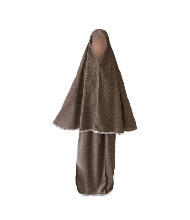 Prayer clothes outfit in Brown Polka Dots - Two piece set dress