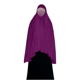 Big Khimar in Violet - Elastic