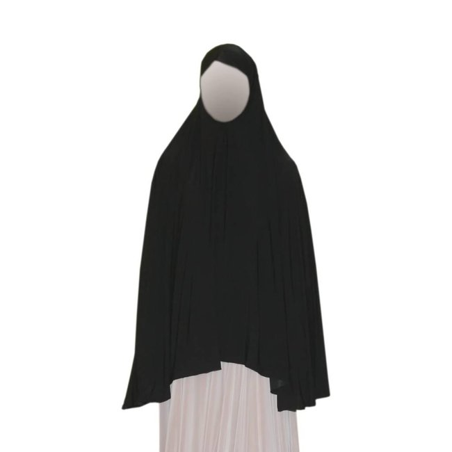 Big Khimar in Black - Elastic