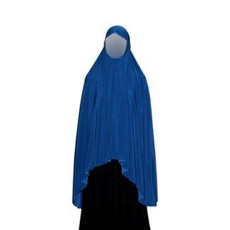 Großer Khimar in Blau - Elastisch