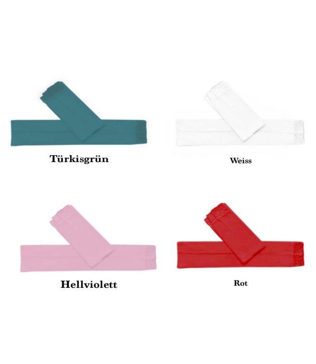 Ärmelstulpe Stulpe mit Spitze - Verschiedene Farben