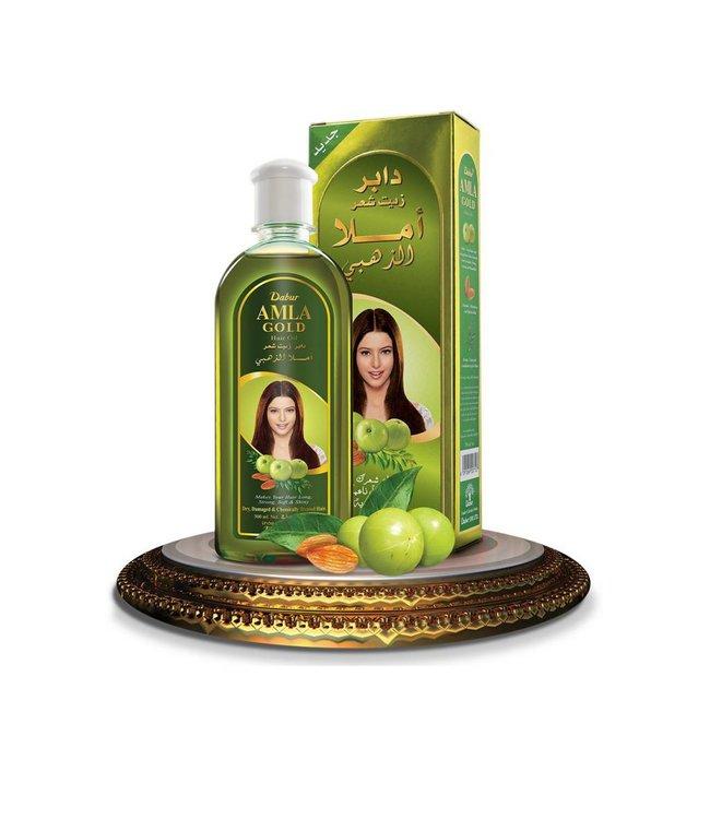 Dabur Amla Gold Hair Oil With Almonds And Henna