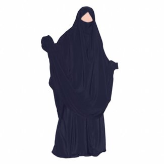 Khimar Set with skirt Dark Blue