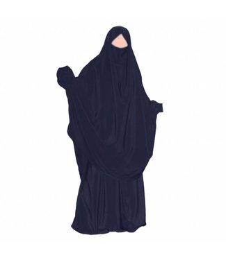 Khimar Set with skirt Dark Blue
