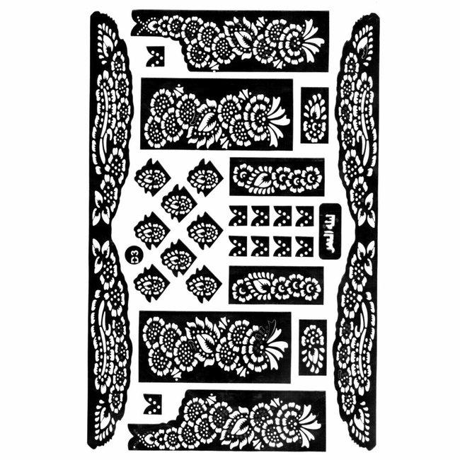 Self-adhesive henna stencils - Maxiset (38cm x 27cm)