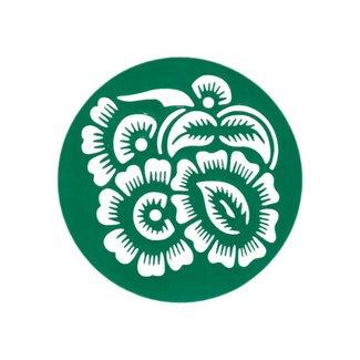 Selbstklebende Hennaschablone - Rund