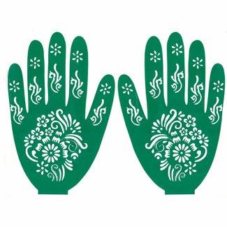 Hennaschablone Hand Für Tattoos