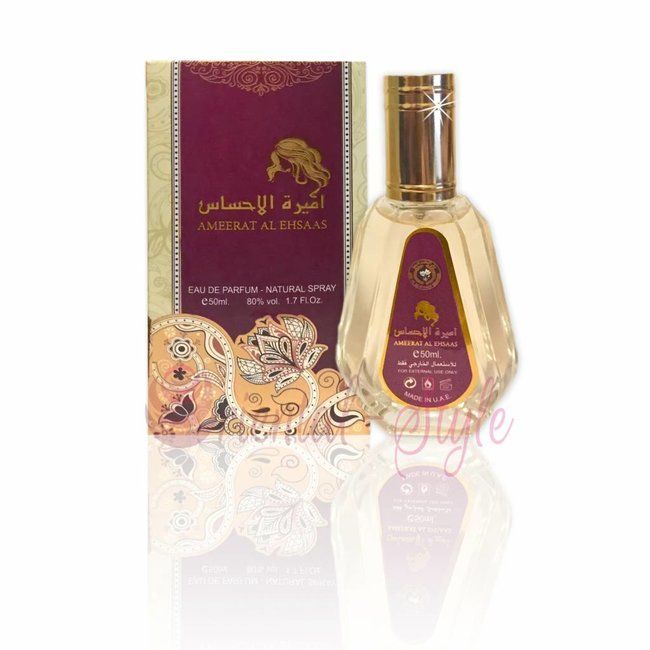 Ard Al Zaafaran Perfumes  Ameerat Al Ehsaas Eau de Parfum 50ml Al Rehab Vaporisateur/Spray