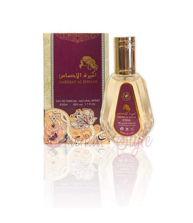 Ard Al Zaafaran Perfumes  Ameerat Al Ehsaas Eau de Parfum 50ml Vaporisateur/Spray