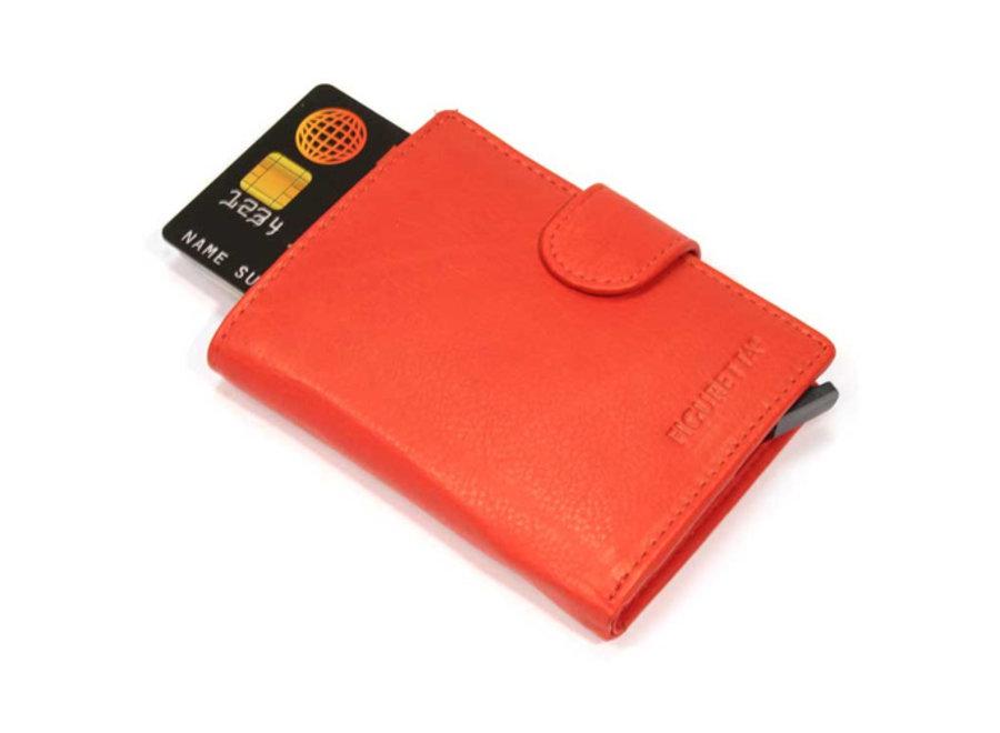 Lederlook Uitschuifbare Card Protector - rood FCP007 Figuretta
