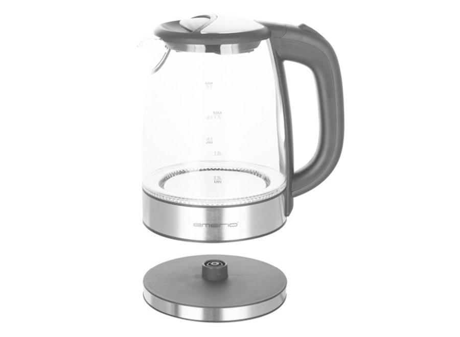 Glazen Waterkoker + LED-verlichting - 1,7 liter WK-119988 Emerio