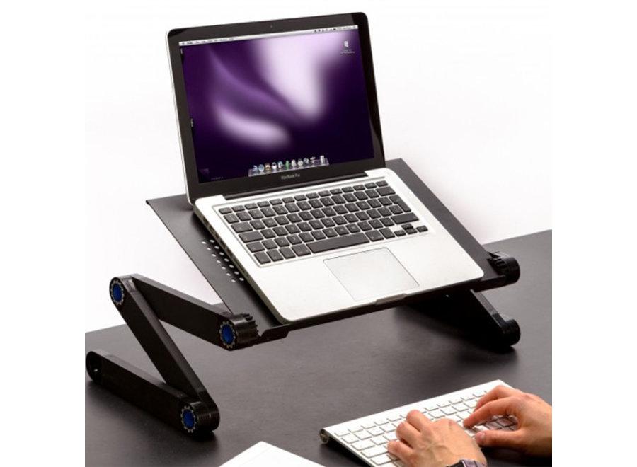 Verstelbare Laptoptafel - zwart Technosmart