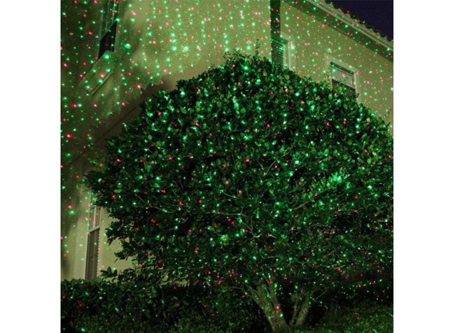 Laser Light Night Stars Kersteditie - 5 patronen