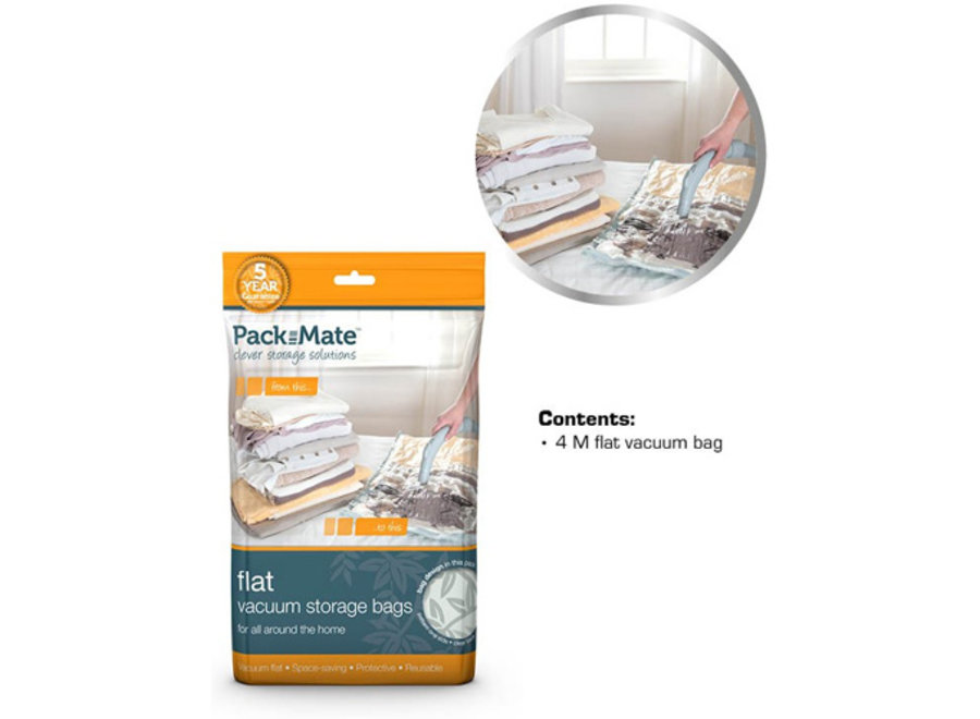 Vacuum Opbergzakken Flat Bag Medium 4-pack Packmate