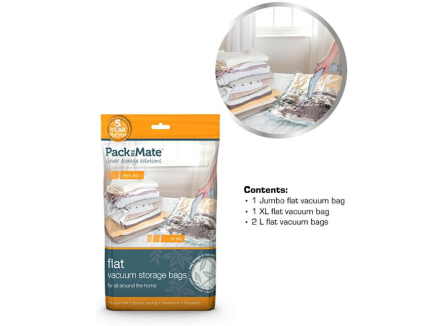 Vacuum Opbergzakken Flat Bag 4-delig Packmate