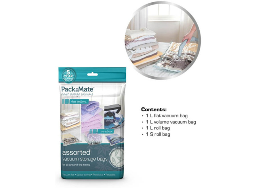 Vacuum Opbergzakken 4-delig Packmate