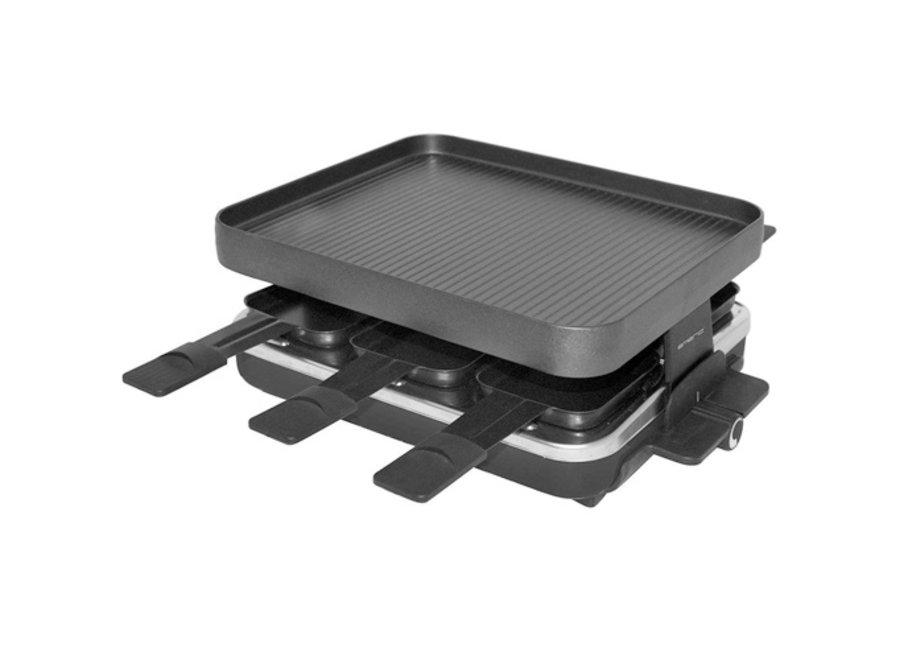 6-persoons Vierkante Raclette/Grill/Gourmetset RG-103147 Emerio