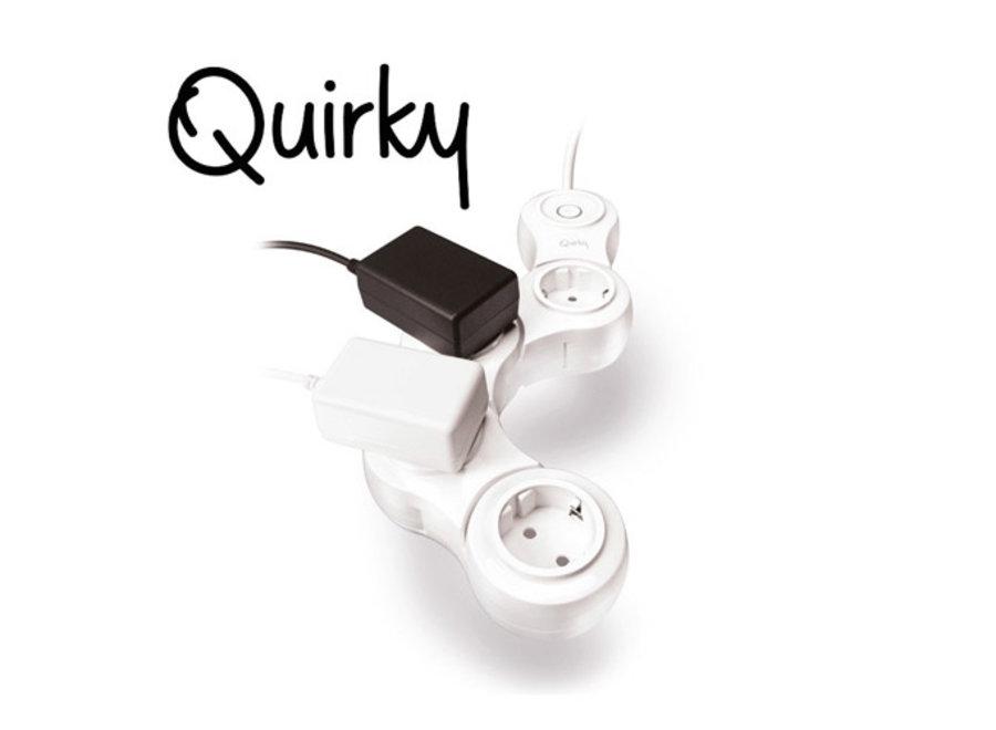 Vouwbare 4-Outlet Stekkerdoos Quirky
