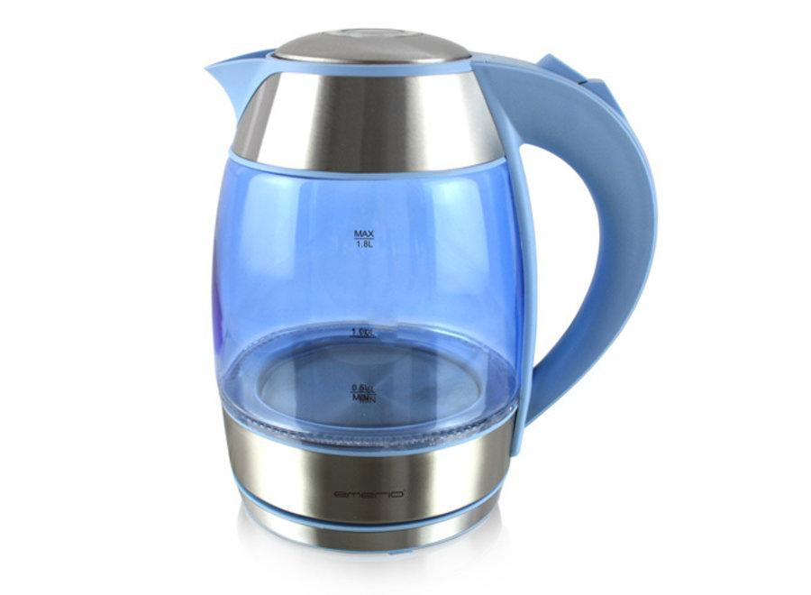 Emerio Gekleurde Glazen Waterkoker met LED-verlichting