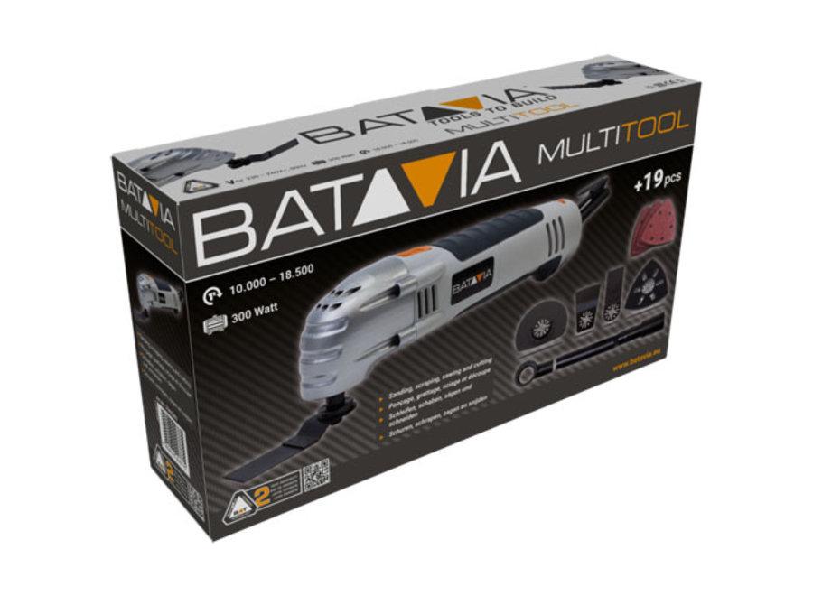 Multitool 300W + 19-dlg accessoireset Batavia