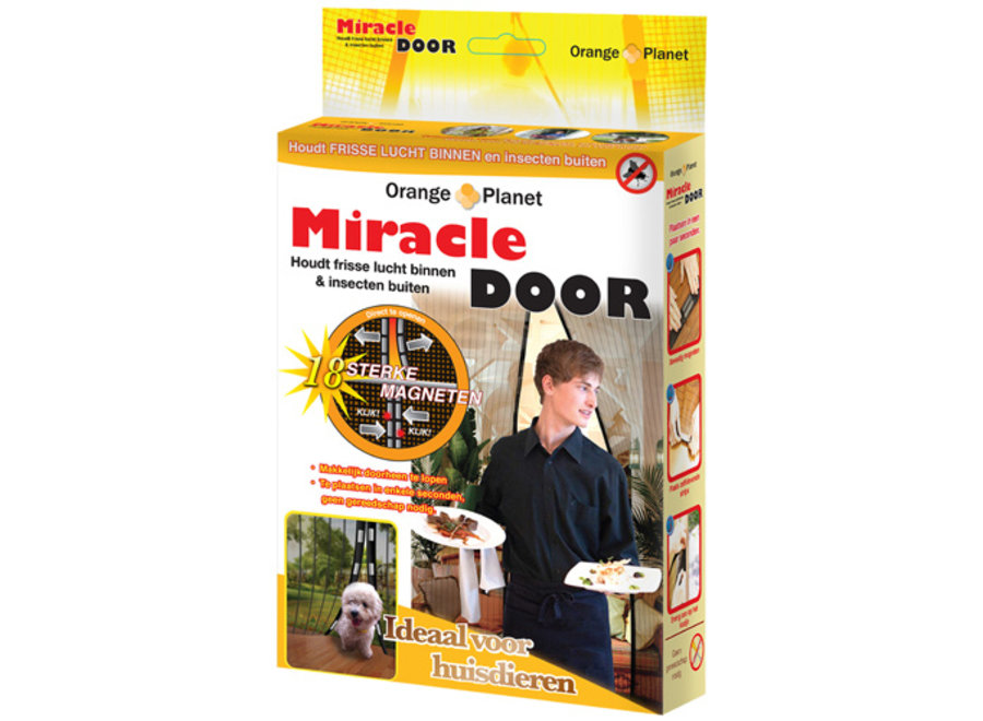 Miracle Door Magnetische deurhor Orange Donkey