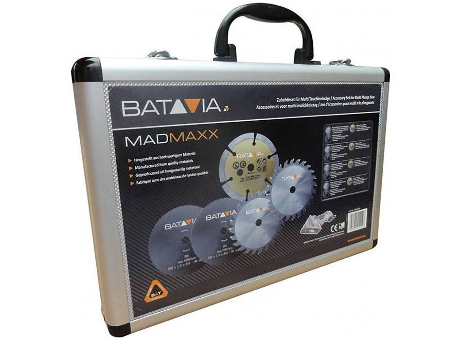 Mad Maxx zaagbladenset in alu koffer - 5 stuks 7061058 Batavia
