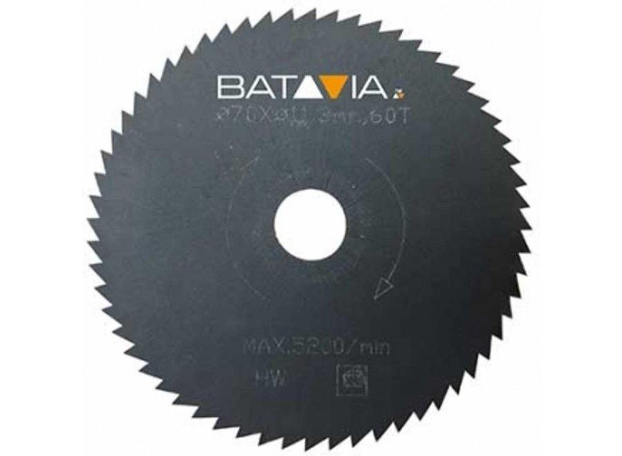 Racer HSS zaagblad 60t ?70mm - 2 stuks 7061498 Batavia