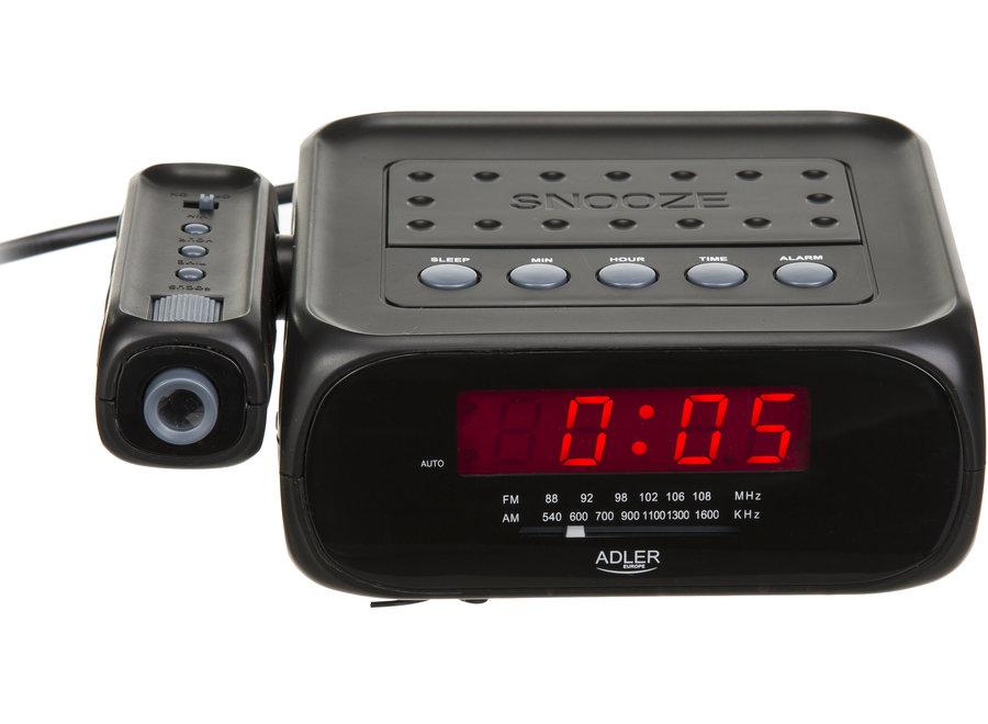 Wekkerradio met tijdsprojectie AD 1120 Adler