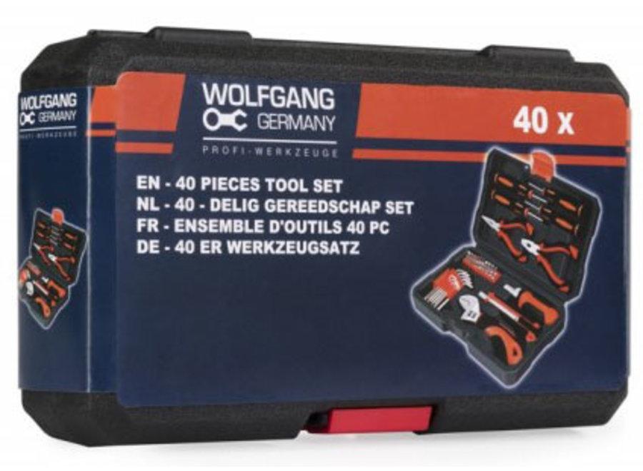 Gereedschapskoffer 40-delig - incl. gereedschap Wolfgang Germany