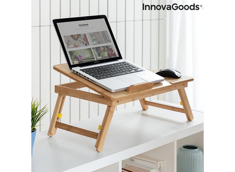Opklapbare Bamboe Laptoptafel V0103031 Innovagoods